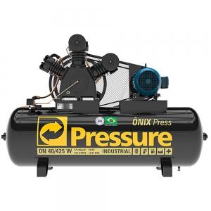 Compressor de Ar 40 Pés 425 Litros 175 Libras Mod. ONIX PRESS - Pressure