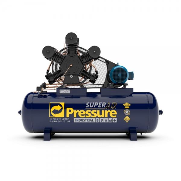 Compressor de Ar 60 Pés 425 Litros 175 Libras Mod. SUPER AR - Pressure