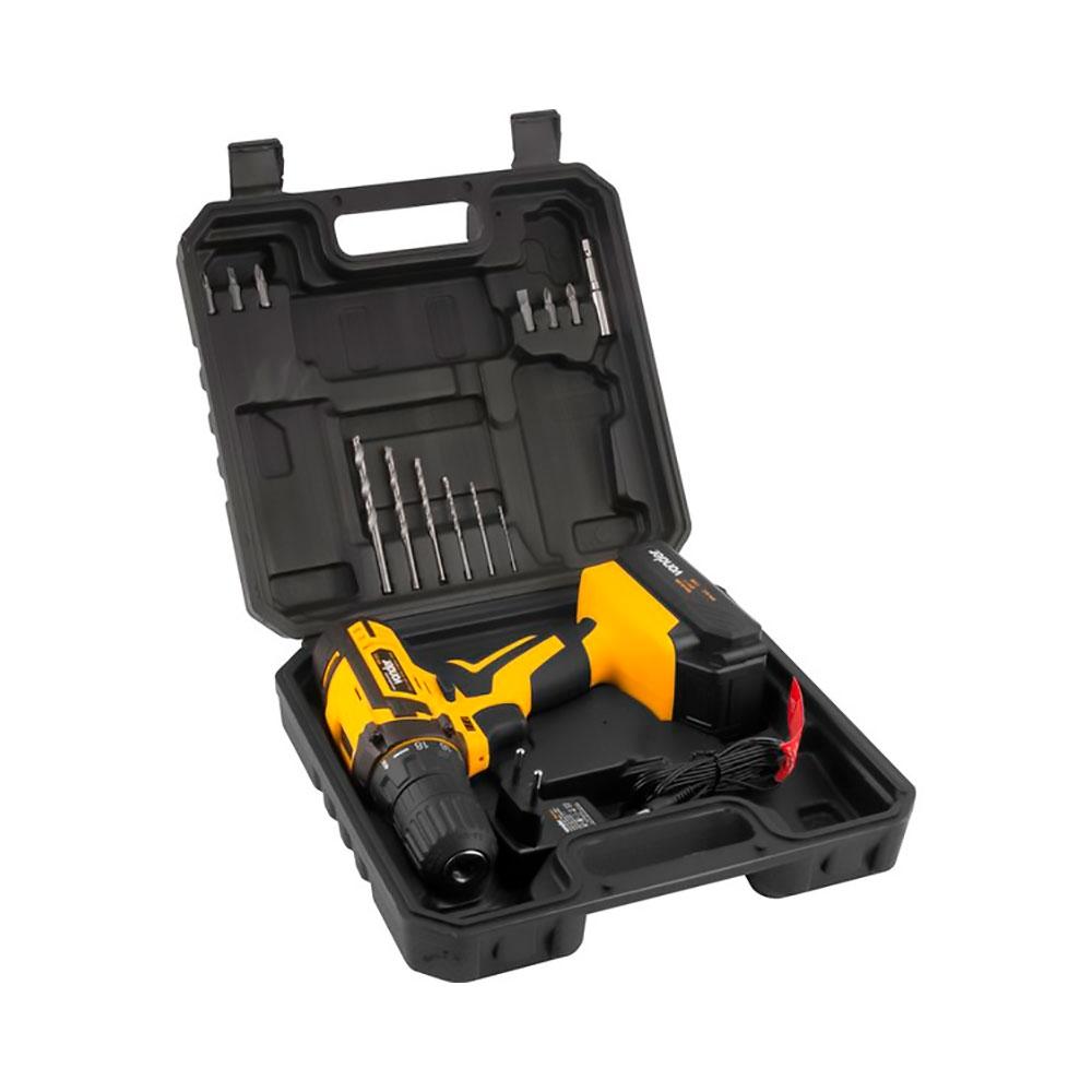 Parafusadeira / Furadeira a Bateria 12V Bivolt + 12 Acessórios Mod. PFV 012 - Vonder