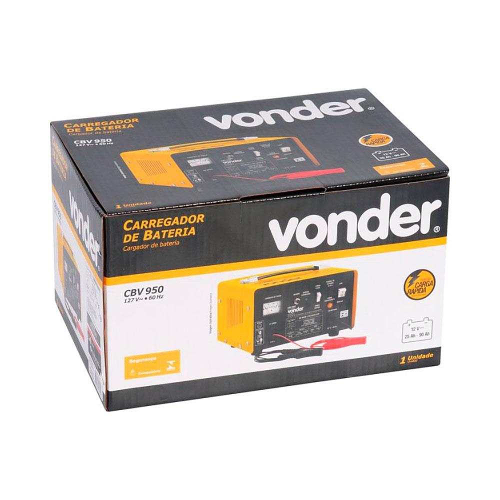 Carregador de Baterias 25 a 90A de 12V Mod. CBV950 - Vonder