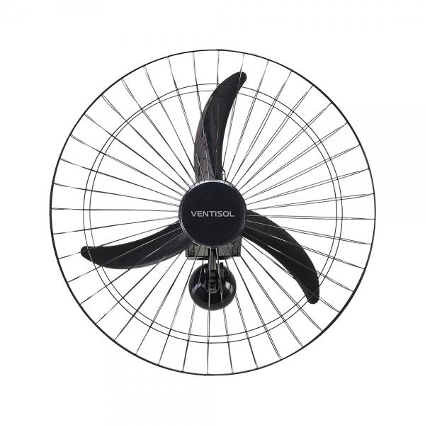 Ventilador Oscilante de Parede 60cm 3 Pás Preto - Ventisol