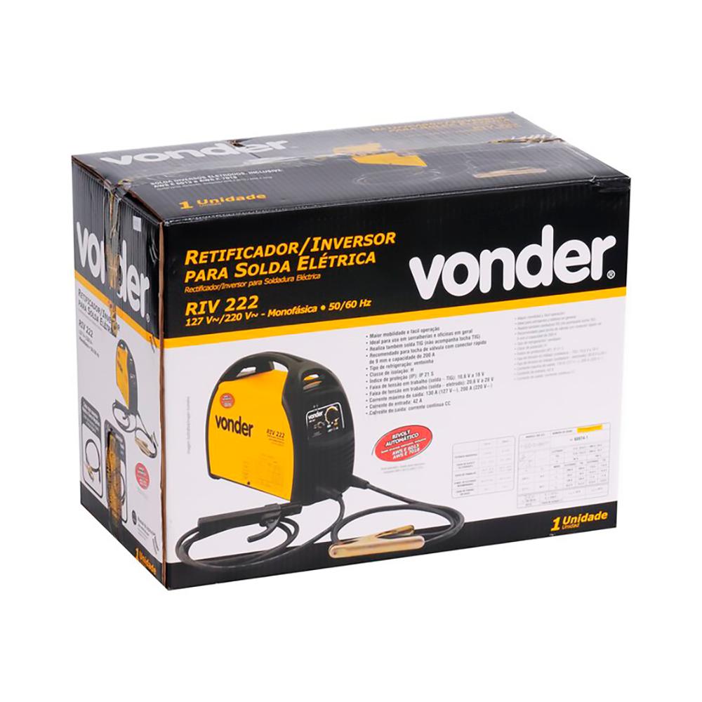 Retificador/Inversor para Solda 200A Bivolt Mod. RIV222 - Vonder