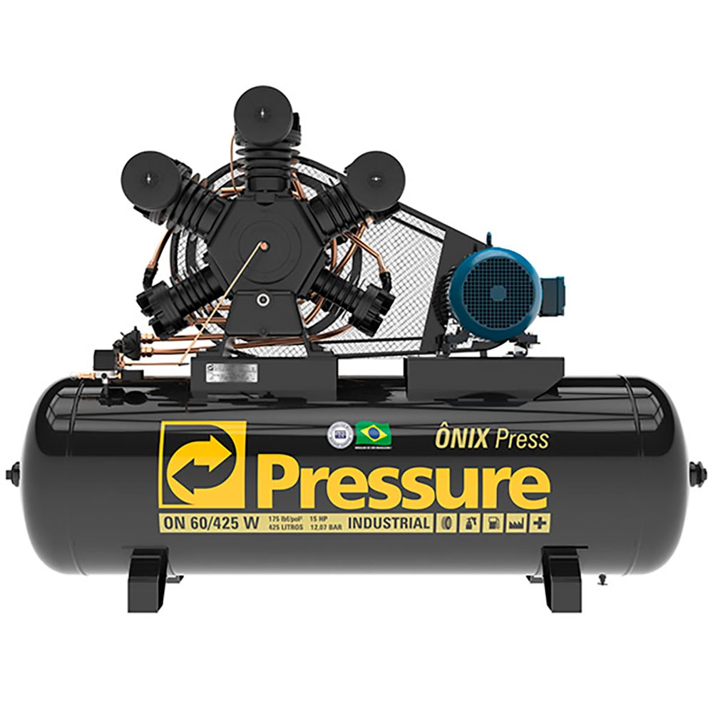Compressor de Ar 60 Pés 425 Litros 175 Libras Mod. ONIX PRESS - Pressure - (Ref: ON60425WTF)