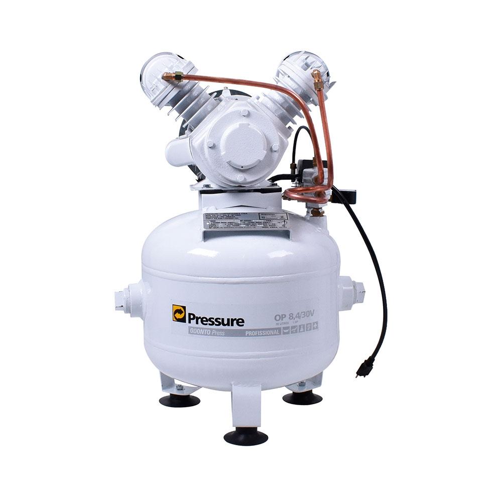 Compressor de Ar Odontológico 8.4PCM 30L Mod. OP 8.4/30V - Pressure